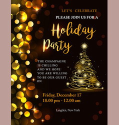 holiday party invitation vector image