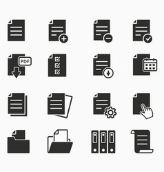 icons set - paper documents file format vector image