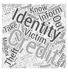 Identity theft protection information Word Cloud vector