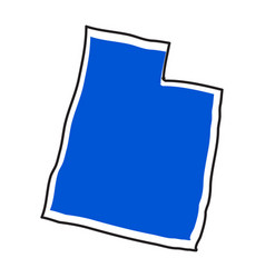 isolated map of the state of utah vector image