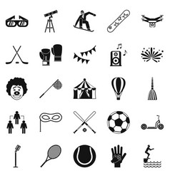 Kidding icons set simple style vector