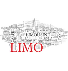 limo word cloud concept vector image