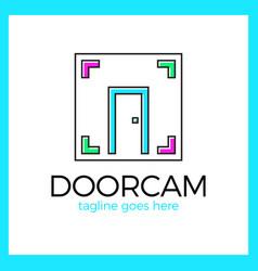 line door photo logo vector image