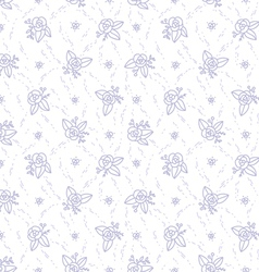 Little purple roses seamless pattern vector image