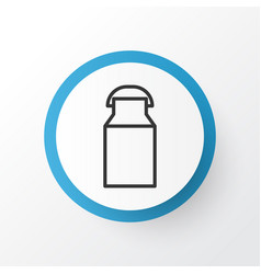 Milk can icon symbol premium quality isolated jug vector