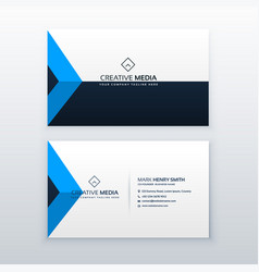 modern clean business card design template vector image