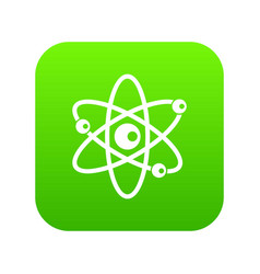 Molecules of atom icon digital green vector