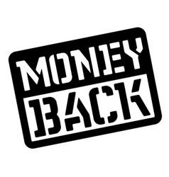 Money back stencil stamp vector