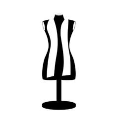 monochrome manikin tailor shop design vector image
