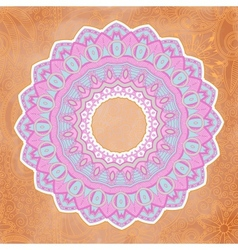 Ornamental lace pattern circle vector