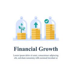 Pension fund saving money fund raising vector