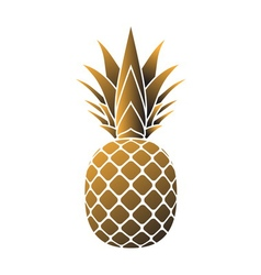 Pineapple gold icon vector