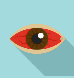 Red eye zika virus icon flat style vector