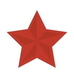 Red star shape vector