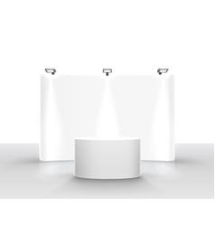 scene show podium for presentations on white vector image