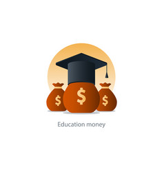 scholarship grant money education fee icon payment vector image