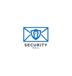 security mail graphic design template vector image
