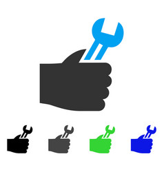 Service hand flat icon vector