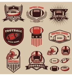 Set of the american football labels emblems and vector