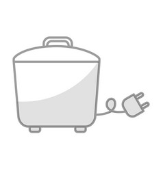 Shadow rice cooker graphic design vector