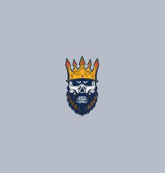 skull king mascot logo concept vector image