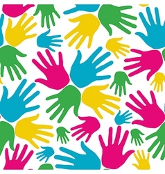 Social diversity hands seamless pattern vector