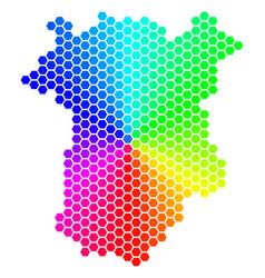 Spectrum hexagon chechnya map vector