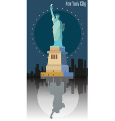 Statue freedom image vector