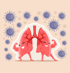 Strong and healthy lungs vector