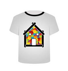 T Shirt Template- Home sweet home vector image