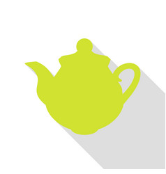 tea maker kitchen sign pear icon with flat style vector image