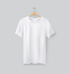 unisex 3d t-shirt on clothes hanger blank tshirt vector image