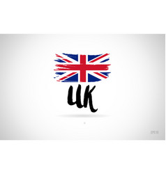 united kingdom uk country flag concept with vector image
