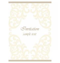 Vintage Classic Wedding Invitation card vector