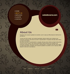 Web layout vector
