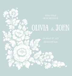 wedding invitation and announcement card with vector image