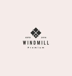 windmill tile granite and marble countertop logo vector image