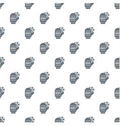 winter glove pattern seamless vector image