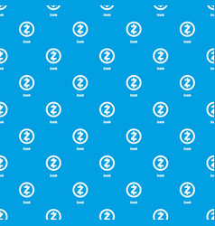 Zcash pattern seamless blue vector