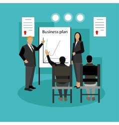 banner concept with business presentations vector image vector image