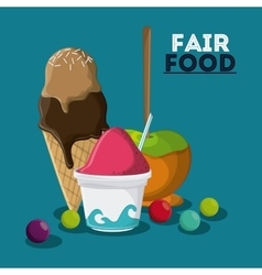 fair food snack carnival design vector image