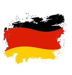 Germany flag grunge style on white background vector image