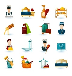 Hotel Maid Icons vector image