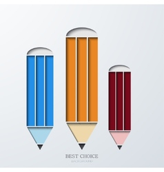 modern pencil infographics vector image vector image
