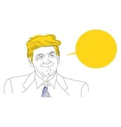 portrait of a smiling Donald Trump sketch vector image