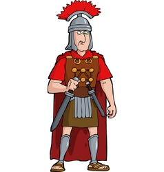 roman officer vector image vector image