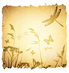 Vintage Summer Meadow vector image vector image