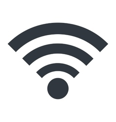 Wifi or wireless isolated icon design vector image vector image