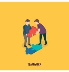 Business solution concept teamwork vector image