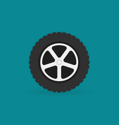 car wheel flat minimal icon vector image
